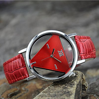 Women's European Style Fashion Simple Double-sided Hollow Triangle Harajuku Retro Trend Watch Cool W