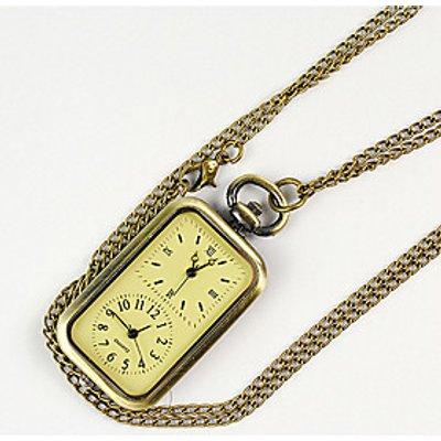 Men's Women's Unisex Pocket Watch Hollow Engraving Quartz Alloy Band Yellow