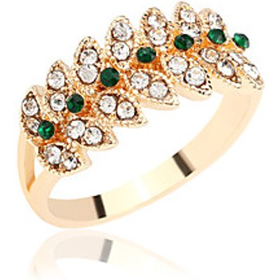 Ring Rhinestone Rhinestone Silver Plated Gold Plated Alloy Leaf Gold Jewelry Wedding Party Daily Cas