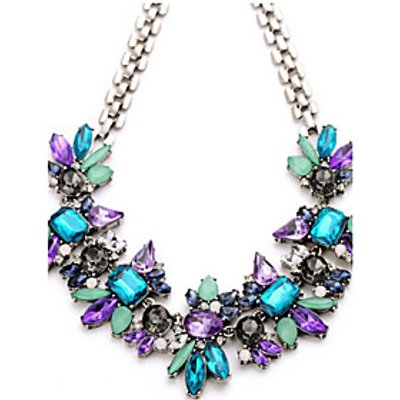 Necklace Statement Necklaces Jewelry Wedding / Party / Daily / Casual Fashion Crystal / Alloy / Rhin