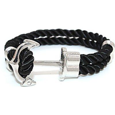 Punk Fashion Men's Bracelet Silver Plated Anchor Bracelet Alloy Bracelet Chain Bracelets / Wrap Brac