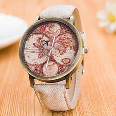 Men's Women's Sport Watch Dress Watch Fashion Watch Wrist watch Large Dial Quartz Fabric Band Charm
