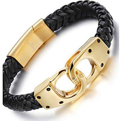2016 Kalen Men's 18K Italian Gold Plated Link Chain Bracelets 316L Stainless Steel Infinity Charm Ma