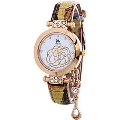 Women's Casual Fashion Quartz Wrist Watch Personality Pendant Round Alloy Dial Watch Cool Watch Uniq
