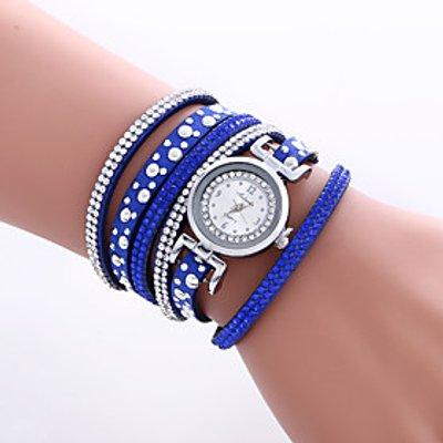 Women's Fashion Watch Wrist watch Bracelet Watch Colorful Quartz PU Band Vintage Heart shape Bohemia