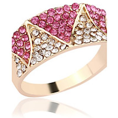 Ring Rhinestone Rhinestone Silver Plated Gold Plated Alloy Simple Style Gold Jewelry Wedding Party D