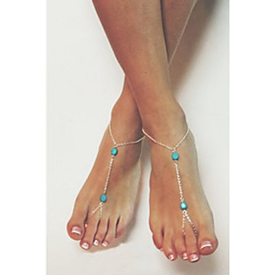Women's Girls' Anklet/Bracelet Silver Platinum Simple Style European Jewelry For Wedding Party Daily