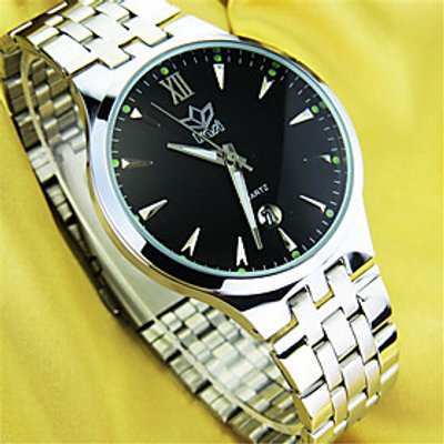 Women's Fashion Watch Quartz Stainless Steel Band Casual Silver