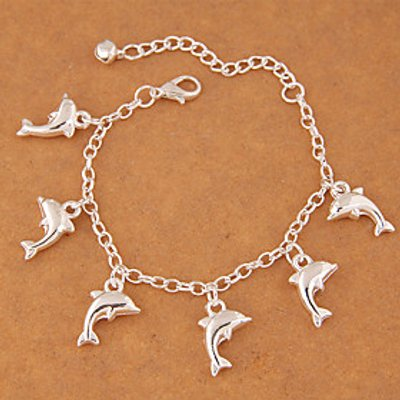 Charm Bracelet Alloy Dolphin Fashion Women's Jewelry 1pc