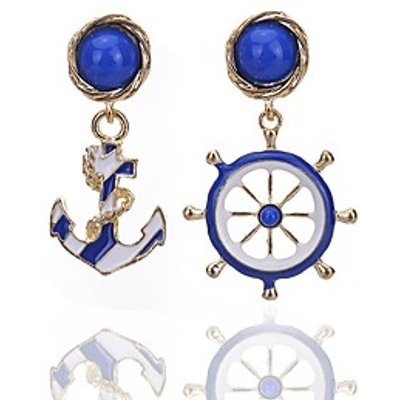 Drop Earrings Jewelry Alloy Flower Style Vintage Bohemian Round Jewelry Party Daily Casual 1 pair