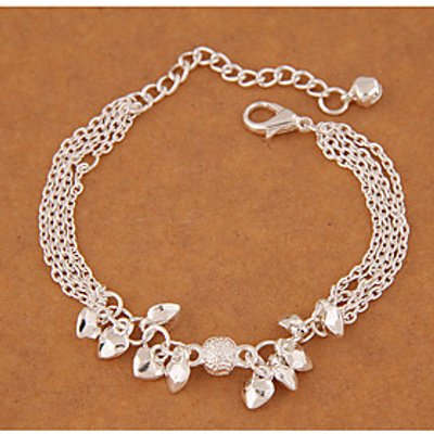 Charm Bracelet Alloy Heart Fashion Women's Jewelry 1pc