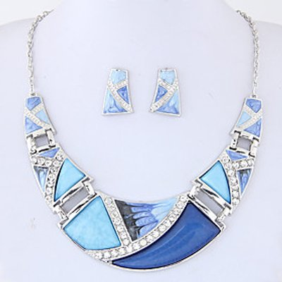 Jewelry Set Euramerican Fashion Alloy Geometric Necklace Earrings For Party Daily 1set Wedding Gifts
