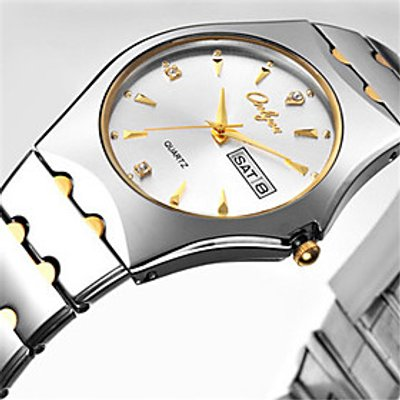 Men's Fashion Watch Japanese Quartz Calendar Water Resistant / Water Proof Alloy Band Casual Silver