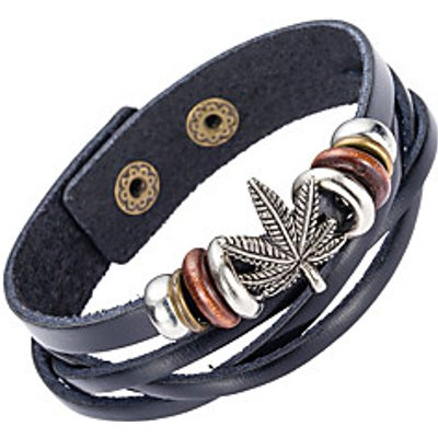 Women's Men's Leather Bracelet Jewelry Natural Fashion Leather Alloy Irregular Jewelry For Special O