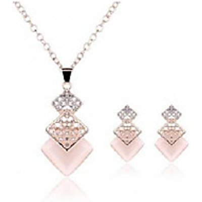 Women's Jewelry Set Rhinestone Euramerican Fashion Resin Alloy Geometric Party Wedding Gifts