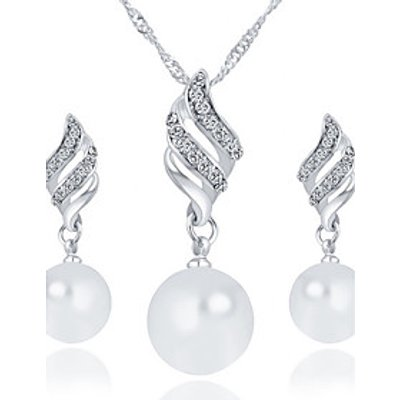 Women's Jewelry Set Imitation Pearl Basic Pendant Alloy Round ForWedding Party Anniversary Birthday
