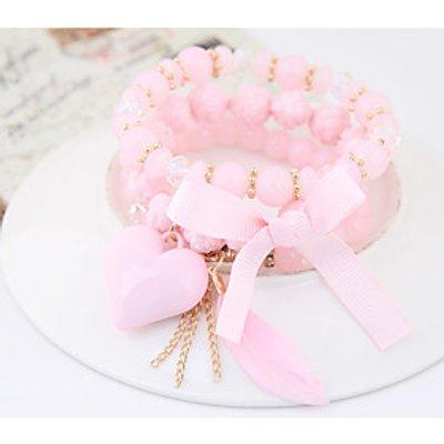 Women's Charm Bracelet Fashion Bohemian Resin Alloy Heart Bowknot Jewelry Party 1pc