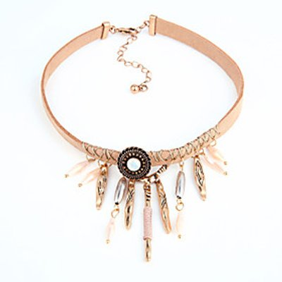 European And American Geometric Pendant Retro Necklace With Crystal Pendant Necklace