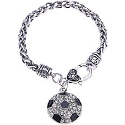 LuremeWomen's Chain Bracelet Diamond Natural Gothic Handmade Fashion Punk Magnetic Therapy DIY Rhine