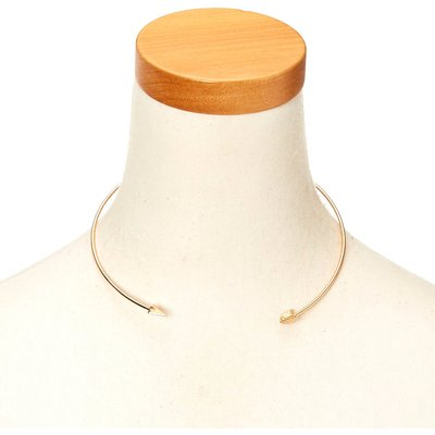 Gold-Tone Arrow Choker Necklace
