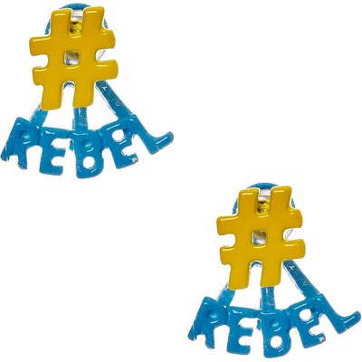 Rebel Front and Back Earrings