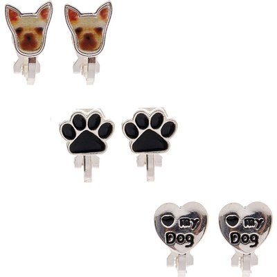 Puppy Love Clip-on Stud Earrings