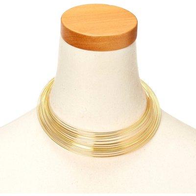Gold-Tone Slinky-Style Necklace