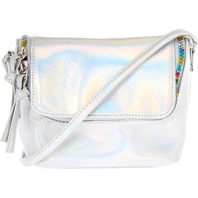 Holographic Silver & Rainbow Crossbody Bag