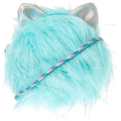Baby Blue Cat Pom Crossbody