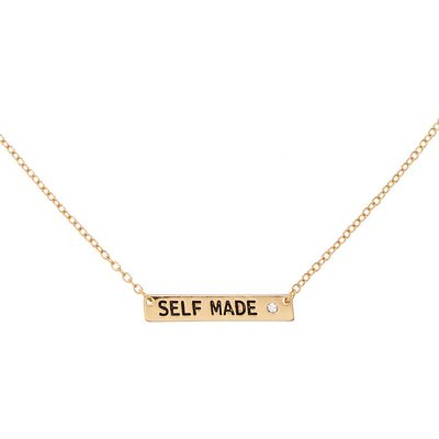 SELF MADE Gold-Tone Bar Necklace