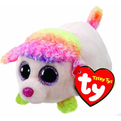 Teeny TY Floral the Poodle Soft Toy