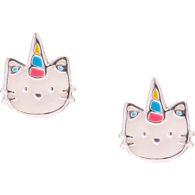 Sterling Silver Caticorn Stud Earrings