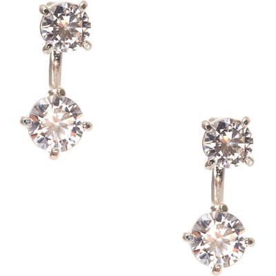 Cubic Zirconia Front and Back Earrings