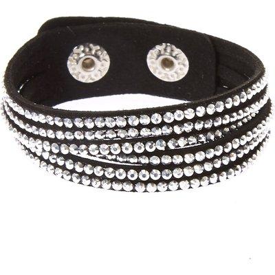 Black and Silver Gem Snap Button Bracelet