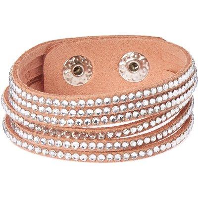 Pink & Silver Gem Snap Button Bracelet