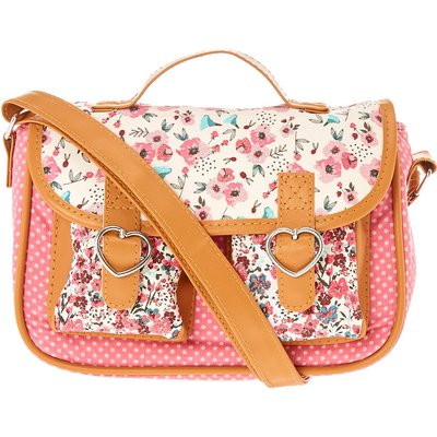 Pink Floral Crossbody Bag