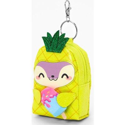 Pink and White Plush Heart Crossbody Bag