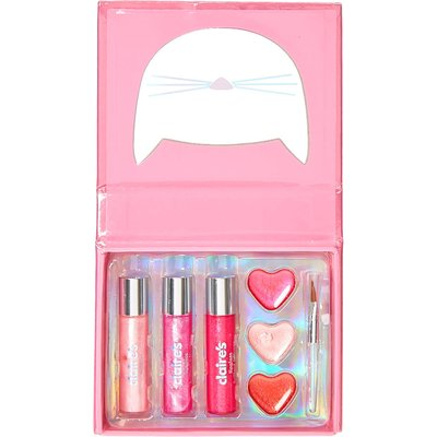Cut Out Pink Cat Lip Gloss Booklet Set