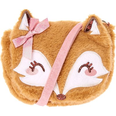 Plush Fox Crossbody Bag
