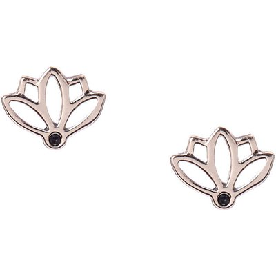 925 Sterling Silver Lotus Stud Earrings