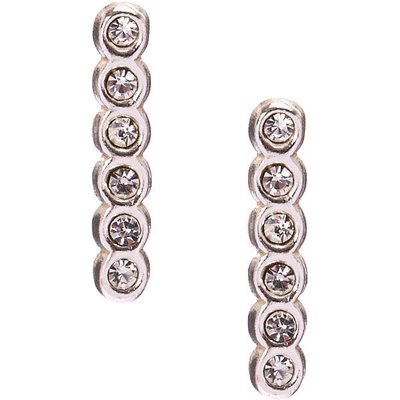 925 Sterling Silver Crystal Bar Earrings