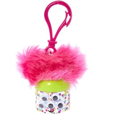 Googly Eye Polka Dot Pink Pom Ears Strawberry Flavored Lip Balm