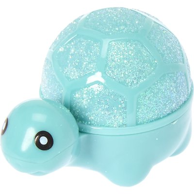 Glittery Turquoise Turtle  Peppermint Flavored Lip Gloss