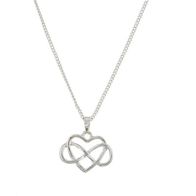 Heart Infinity Pendant Necklace