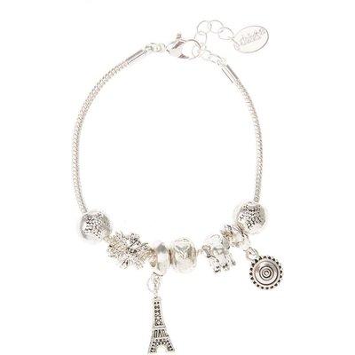 Silver Tone Elephant Charm Bracelet