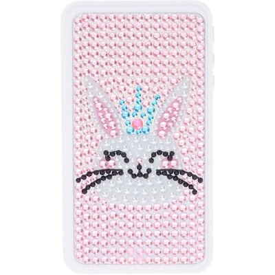 Kids Bedazzled Bunny Glittery Lip Gloss Cell Phone Case Compact