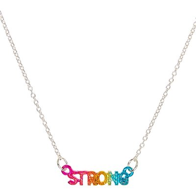 Rainbow Strong Pendant Necklace