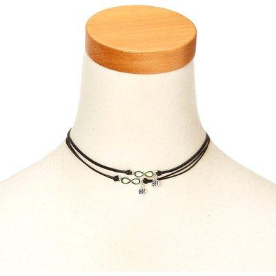 Best Friends Mood Infinity Symbol Pendant Black Cord Choker Necklaces