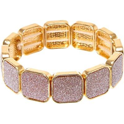 Rose Gold Glitter Tape Elastic Bracelet
