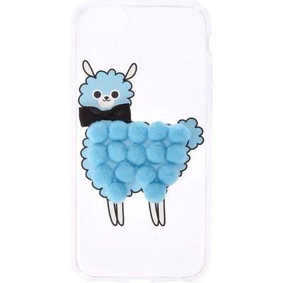 Blue Pom Pom Llama Phone Case